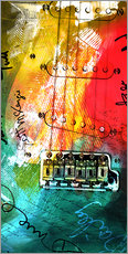 guitar music colorful collage rock n roll