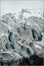 Closeup view of glacier above Saas Fee, Switzerland