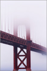 Golden Gate Bridge in fog, San Francisco