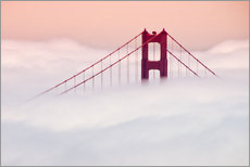 Golden Gate Bridge in the clouds