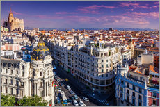 Gran Via Street, Madrid, Spain
