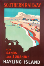 Hayling Island, poster advertising Southern Railway