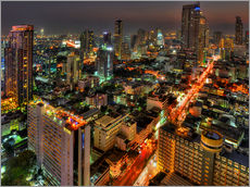 HDR   SUNSET IN BANGKOK   SILOM ROAD   THAILAND 07
