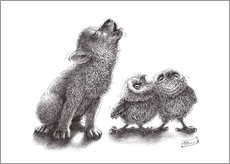 howling wolf meets howling owls