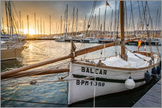 Historic sailboat in the port of Palma de Mallorca