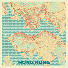 HongKong Map Retro