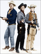 John Wayne, Dean Martin and Ricky Nelson as cowboys