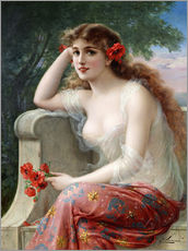 Young Beauty with Poppies