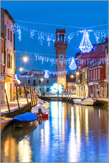 Canal in Murano at Christmas, Venice