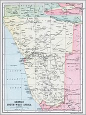 Map Of German South-West Africa