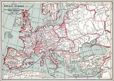 Map Of Europe, 12th Century