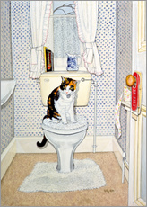 Cat on the Loo