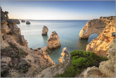 Cliffs at sunrise, Praia Da Marinha, Algarve, Portugal