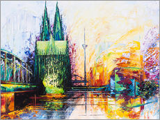 Cologne Cathedral Skyline colored