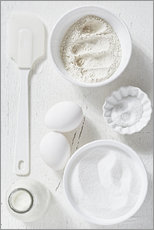 Country home baking ingredients
