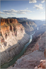Landscape: sunset over Colorado river, Grand Canyon, USA