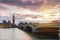 LONDON Westminster Bridge and Big Ben at Sunset