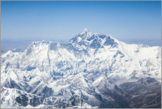 Aerial view of Mount Everest in the Himalaya