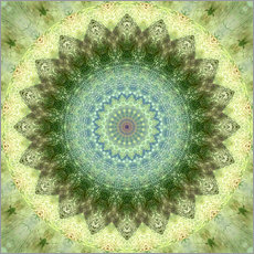 Mandala yellow green
