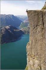 Man sitting on Pulpit Rock, Lysefjord