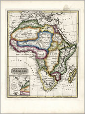 Map of Africa, 1817