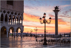 St Mark's square at sunrise