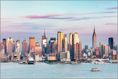 Midtown Manhattan skyline at sunset, New York city, USA