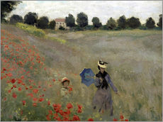Poppy field at Argenteuil, detail