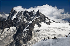 Mont Blanc Massif and mountaineer, France