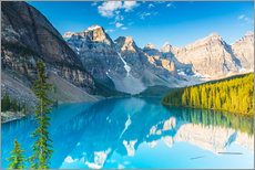 Moraine Lake in the Rocky Mountains - Canada