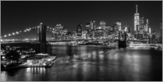 New York City by Night (monochrome)