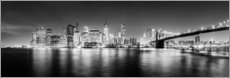 New York City skyline by night (Monochrome)