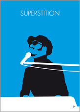 No039 MY STEVIE WONDER Minimal Music poster