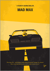 No051 My Mad Max 1 minimal movie poster