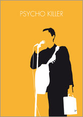 No064 MY TALKING HEADS Minimal Music poster