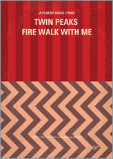 No169 My Fire walk with me minimal movie poster