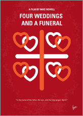 No259 My Four Weddings and a Funeral minimal movie poster
