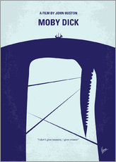 No267 My MOBY DICK minimal movie poster