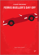 No292 My Ferris Bueller's day off minimal movie poster