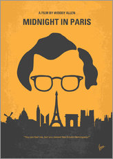 No312 My Midnight in Paris minimal movie poster