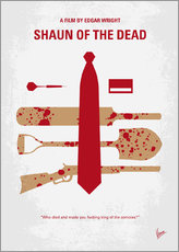 No349 My Shaun of the Dead minimal movie poster