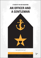 No388 My An Officer and a Gentleman minimal movie poster