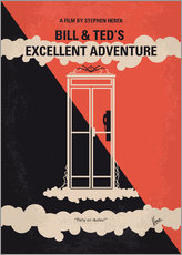 No490 My Bill and Teds Excellent Adventure minimal movie poster
