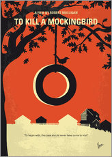 No844 My To Kill a Mockingbird minimal movie poster