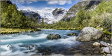 Norwegian Wilderness - mountain stream and glaciers
