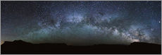 Panoramic of the Milky way arch in the sky, United States