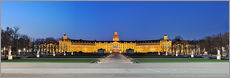 Panoramic view of palace Karlsruhe Germany