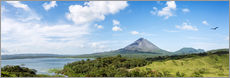 Panoramic of Arenal volcano and lake, Costa Rica