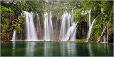 Paradise like waterfall in plitvice