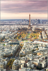 Paris from above in autumn
